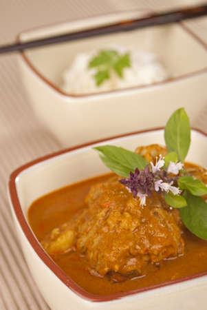 Thai Chicken Red Fried Curry photo