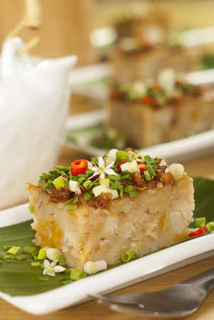 morsel: Savory Yam and Pumpkin Vegetable Cake