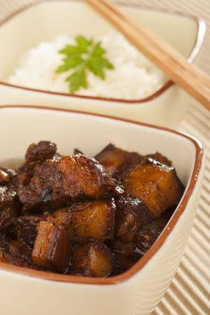 sinful: Braised Pork Belly in Dark Soy Sauce