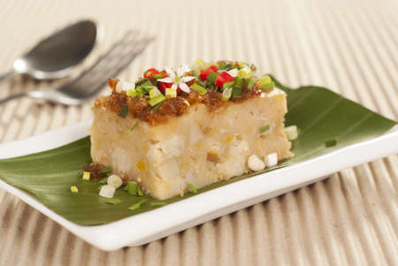 taro: Savory Yam and Pumpkin Vegetable Cake