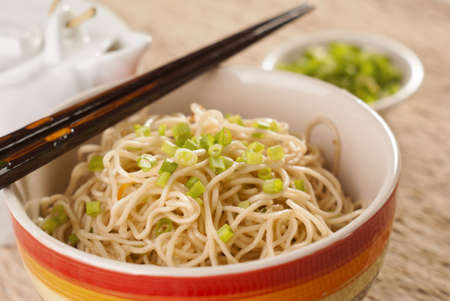 scallion: Sichuan Noodles w Scallion Tops