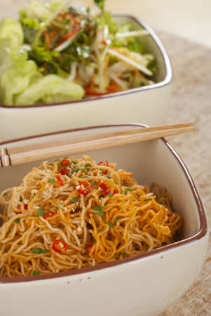 Sichuan Curly Noodles Tossed in Chili Oil photo