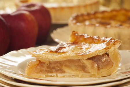crumbly: Chilled Apple Pie on Vintage English Plate