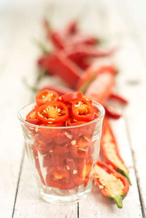 Sliced Chili - Asian Condiments Stock Photo - 15311523