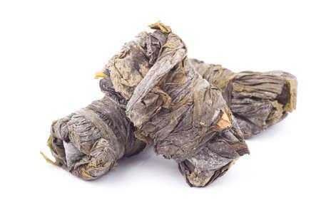 alga marina: Dried Seaweed - Sobre fondo blanco