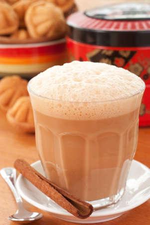 tarik: Chai Masala - Teh Tarik Stock Photo