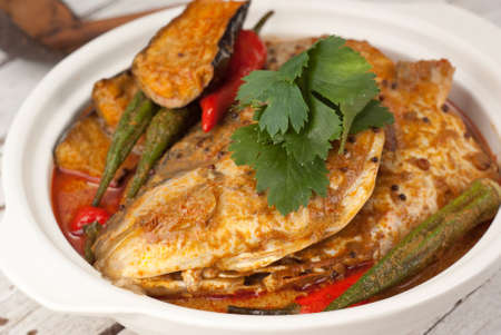 Fish Head Claypot Curry  Unsharpened file photo