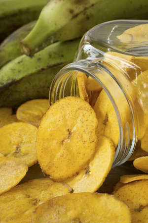 plantain: Plantain Chips; Non sharpened file Stock Photo