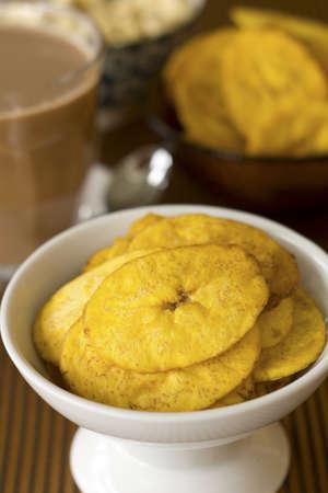 Plantain Banana Chips; Non sharpened file Stock Photo - 18559509