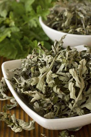 Dried Mugwort or Artemisia vulgaris; Non sharpened file