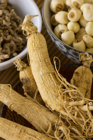 Korean Dried Ginseng; Non sharpened file photo
