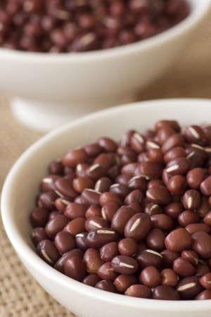 adzuki bean: Azuki or Adzuki Beans; Non sharpened file Stock Photo