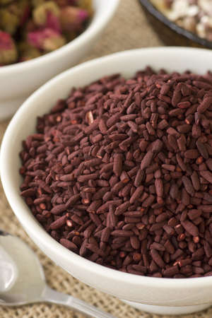 Fermented Red Rice or Ang Kak; Non sharpened file Stock Photo - 18813768