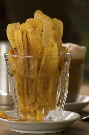 Banana Chips w Teh Tarik; Non sharpen file Stock Photo - 18967943