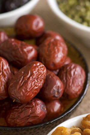 herbology: Chinese Red Dates; Non sharpened file Stock Photo