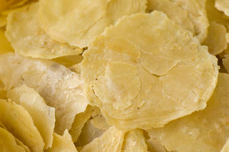 Emping blinjo, melinjo or belinjo chips; Non sharpened file Stock Photo - 19021403