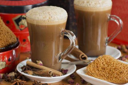 tarik: Teh Tarik or Chai Masala Non sharpen file Stock Photo