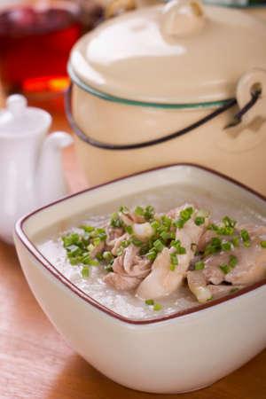 non: Chicken Porridge Non sharpen Stock Photo