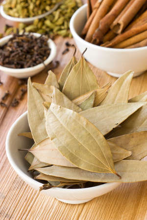 cinnamomum: Dried Indian Bay Leaves and Spices