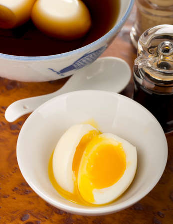 Ajitsuke Tamago, Japanese Sous Vide Slow Cooked Eggs. Non sharpen