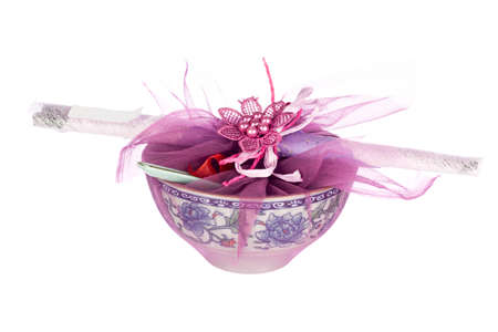 Traditional Chinese Door Gift wishing invited guests a long life and given before the event is closed. Non sharpen file Stock Photo