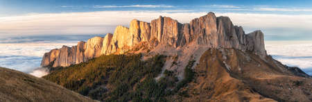 Rocky bastion of Bolshoy (Big) Tkhach mountain