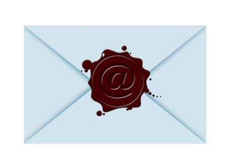 illustration of a close envelope with sealing wax and  스톡 콘텐츠