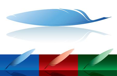 a poet: ilustraci�n vectorial de una pluma con patrones de colores Vectores