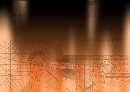 Computer generated abstract technical background. Stock Photo - 4353844