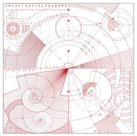 illustration of technical draft background