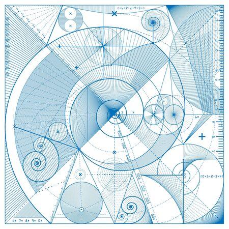 draft: illustration of technical draft background