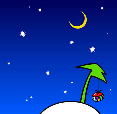 illustration of a new year scene. illustration