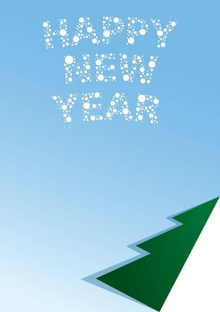 Vector illustration of a blank list with a newyear congratulation.  illustration
