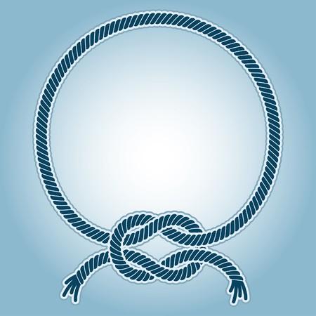 結び目: 海の結び目とリング フレームのイラスト。  イラスト・ベクター素材
