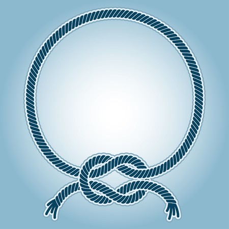 rope knot:  illustration of a ring frame with with a sea knots.