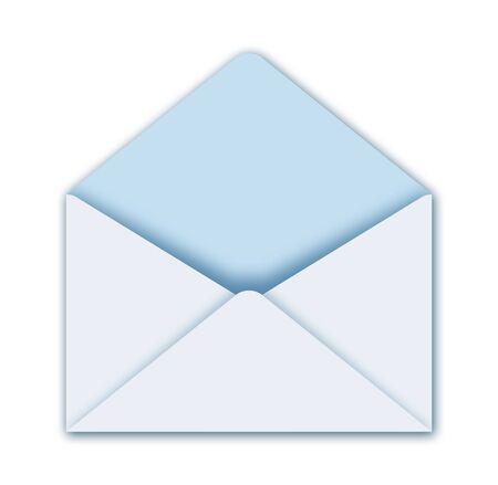 illustration of open postal envelope
