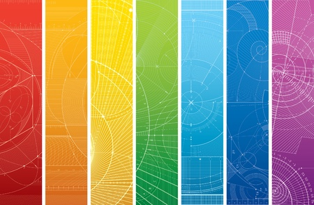 Vector illustration of a draft pattern. Can be easily colored and used in your design. 일러스트