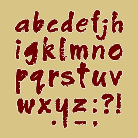 Traced illustration of a handmade English alphabet  lowercase Stock Vector - 17474140