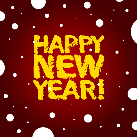 Vector illustration of a new year congratulation with a traced handmade text. 일러스트