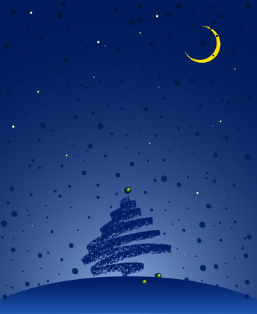 Vector illustration on the new year's theme. Can be easily colored and used in your design.