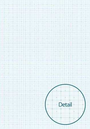 millimetre: Vector illustration of a millimetre grid paper. Can be easily colored and used in your design.