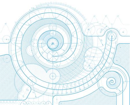 Vector ontwerp achtergrond met een draai. Kan gemakkelijk worden gekleurd en gebruikt in uw ontwerp. Vector Illustratie