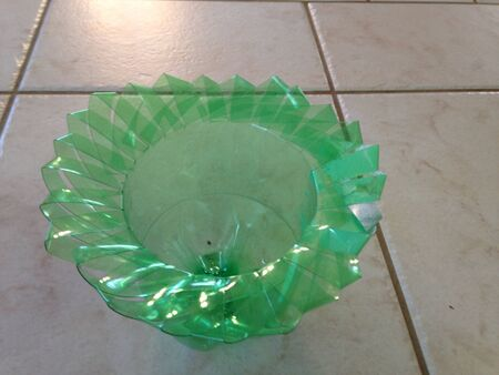 bowl made from bottle plastic Stock Photo - 21331766