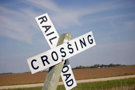 railroad crossing Stock fotó