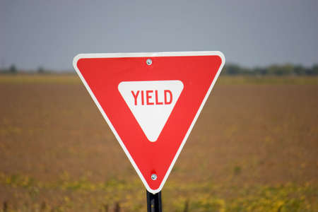 presentiment: yield sign Stock Photo