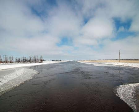 icy river Stok Fotoğraf