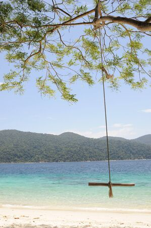 Swing on the beach in Thailand photo