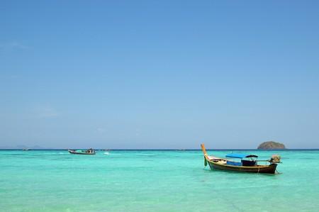 Thai boat for tourist and beautiful sea photo