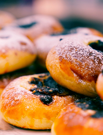 Turkish pastry foods with olive