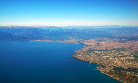 Aerial photograph of Antalya bay in Turkey